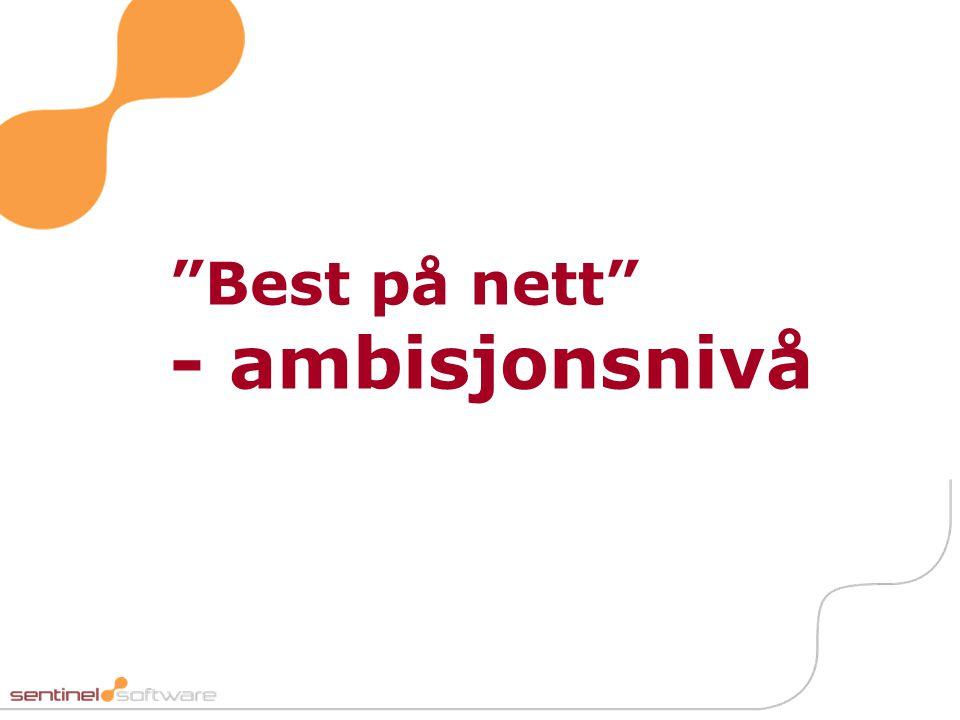Best på nett - ambisjonsnivå