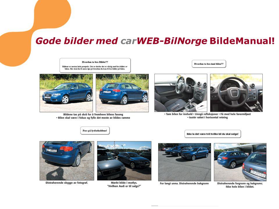 Gode bilder med carWEB-BilNorge BildeManual!