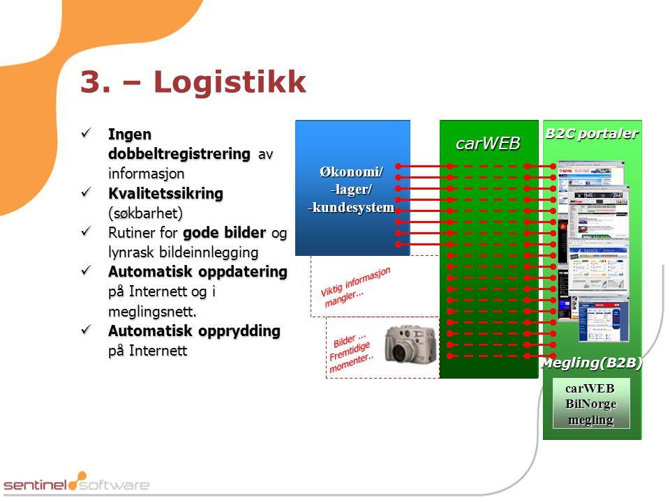 Økonomi/ -lager/ -kundesystem carWEB BilNorge megling