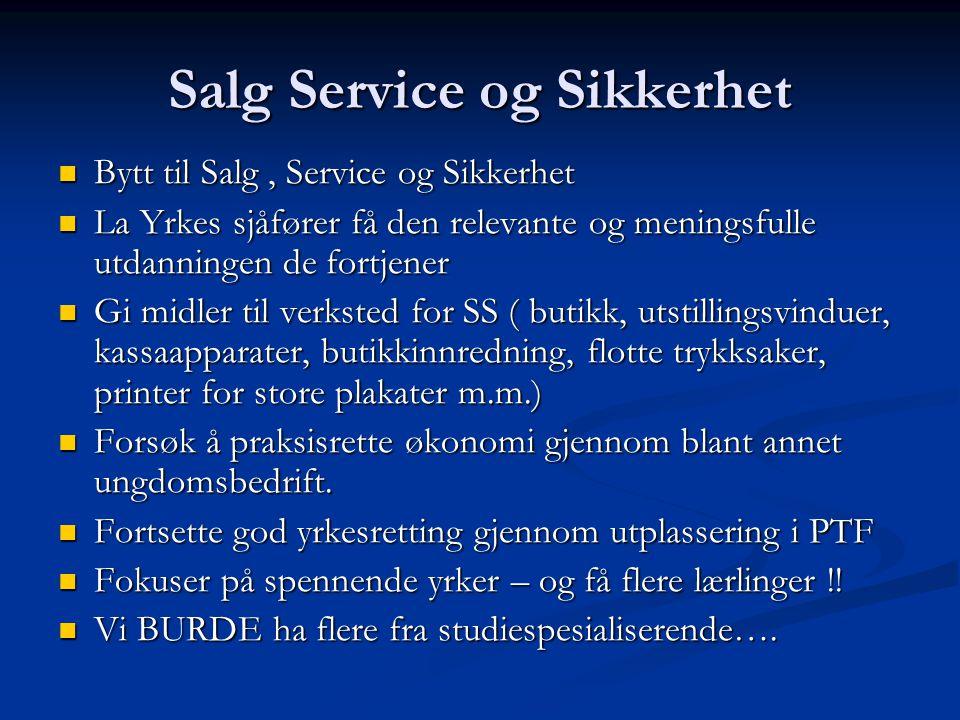 Salg Service og Sikkerhet