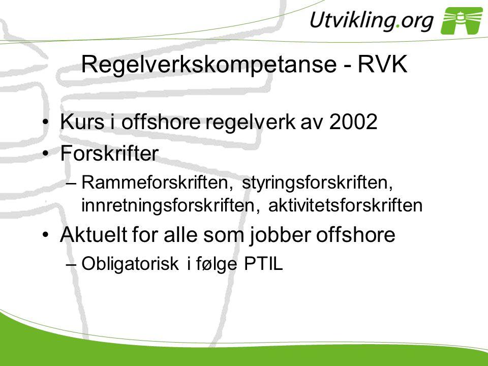 Regelverkskompetanse - RVK