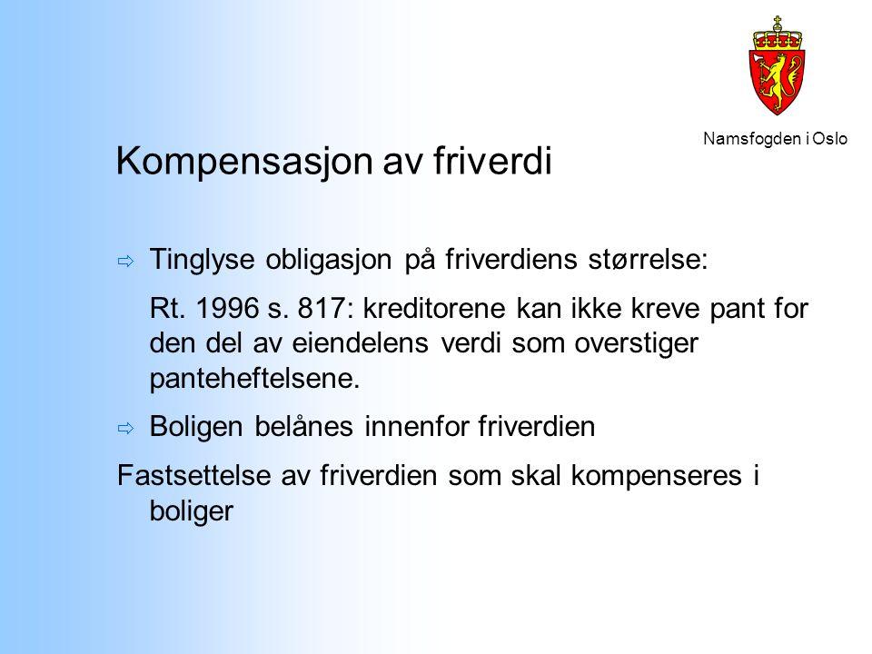 Kompensasjon av friverdi