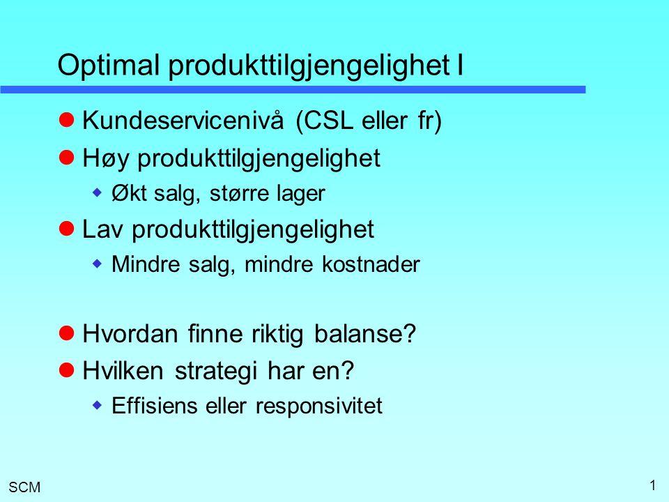 Optimal produkttilgjengelighet I