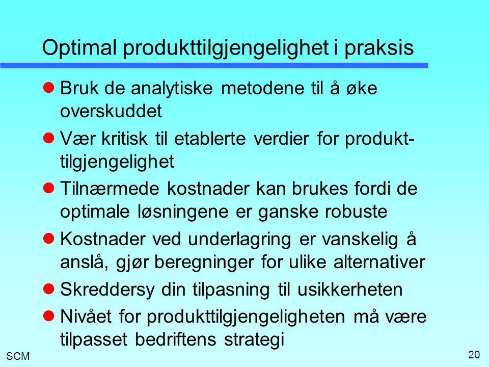 Optimal produkttilgjengelighet i praksis