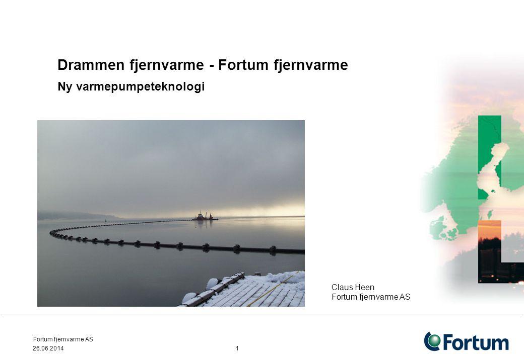 Drammen fjernvarme - Fortum fjernvarme Ny varmepumpeteknologi
