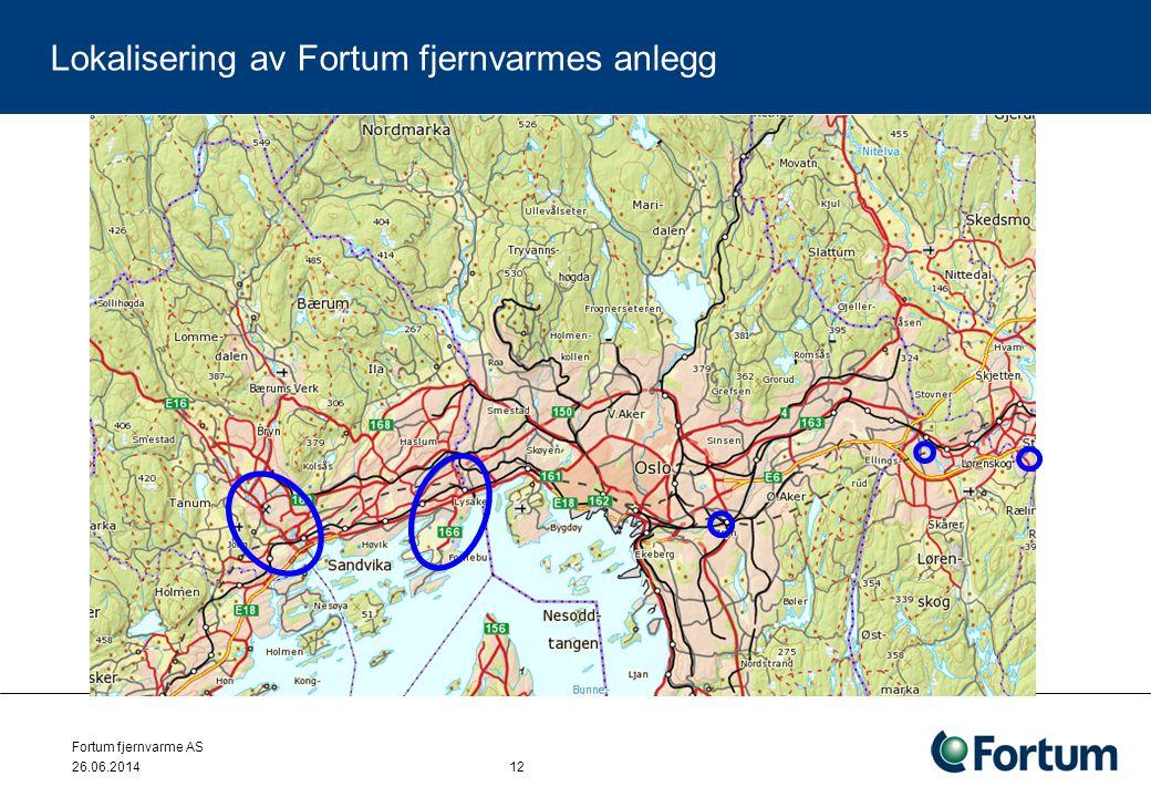 Lokalisering av Fortum fjernvarmes anlegg