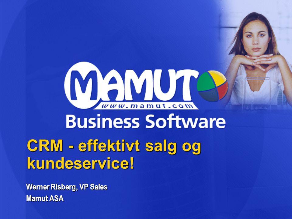 CRM - effektivt salg og kundeservice!