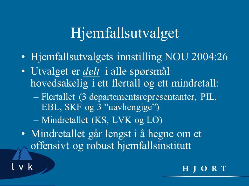 Hjemfallsutvalget Hjemfallsutvalgets innstilling NOU 2004:26