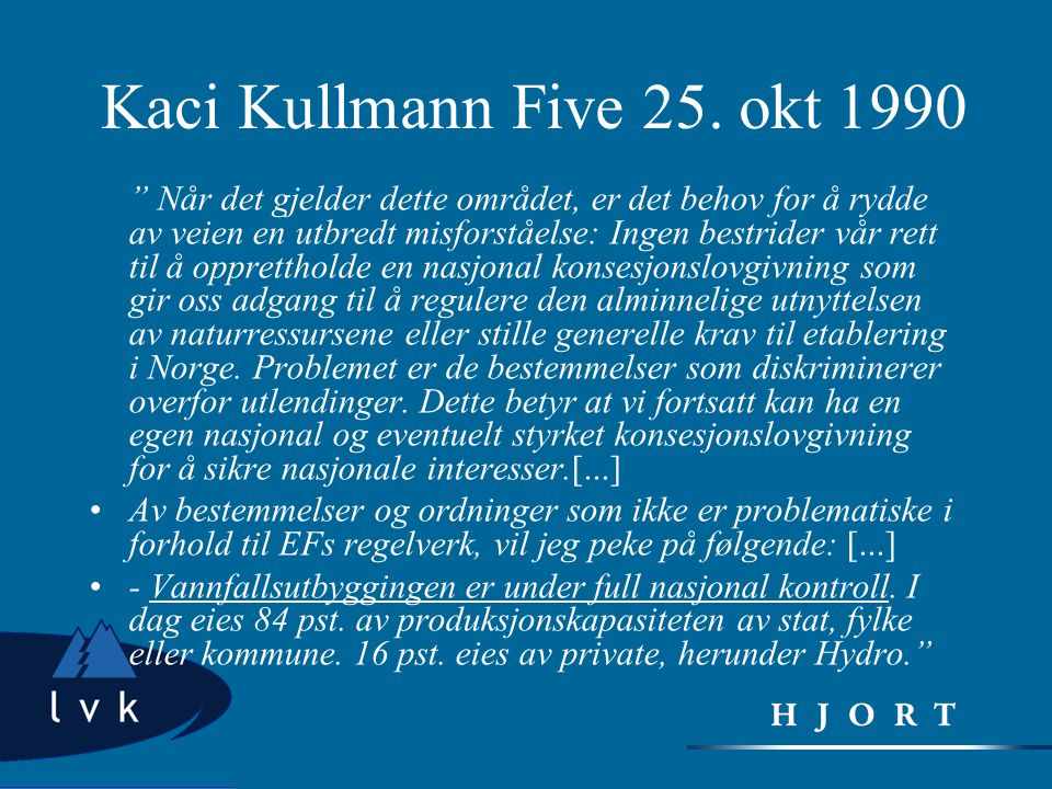 Kaci Kullmann Five 25. okt 1990