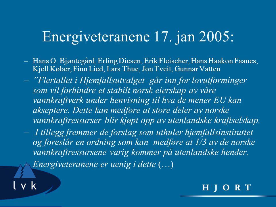 Energiveteranene 17. jan 2005: