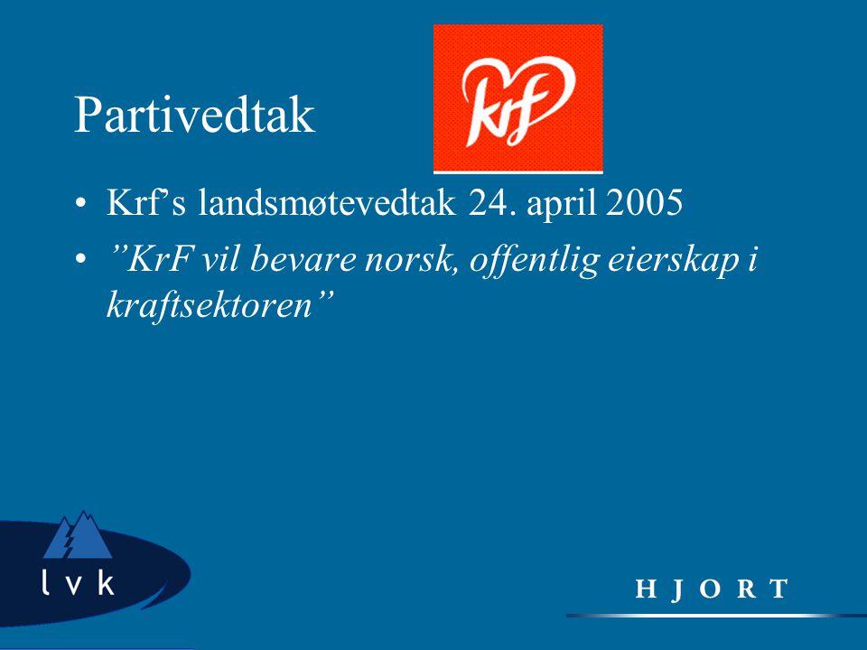 Partivedtak Krf's landsmøtevedtak 24. april 2005