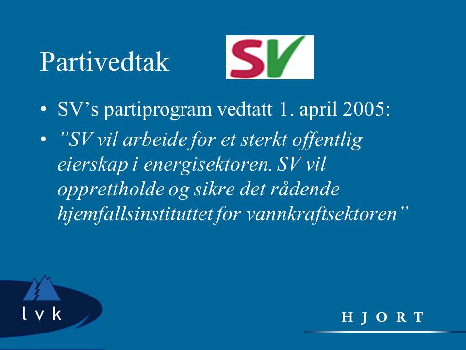 Partivedtak SV's partiprogram vedtatt 1. april 2005: