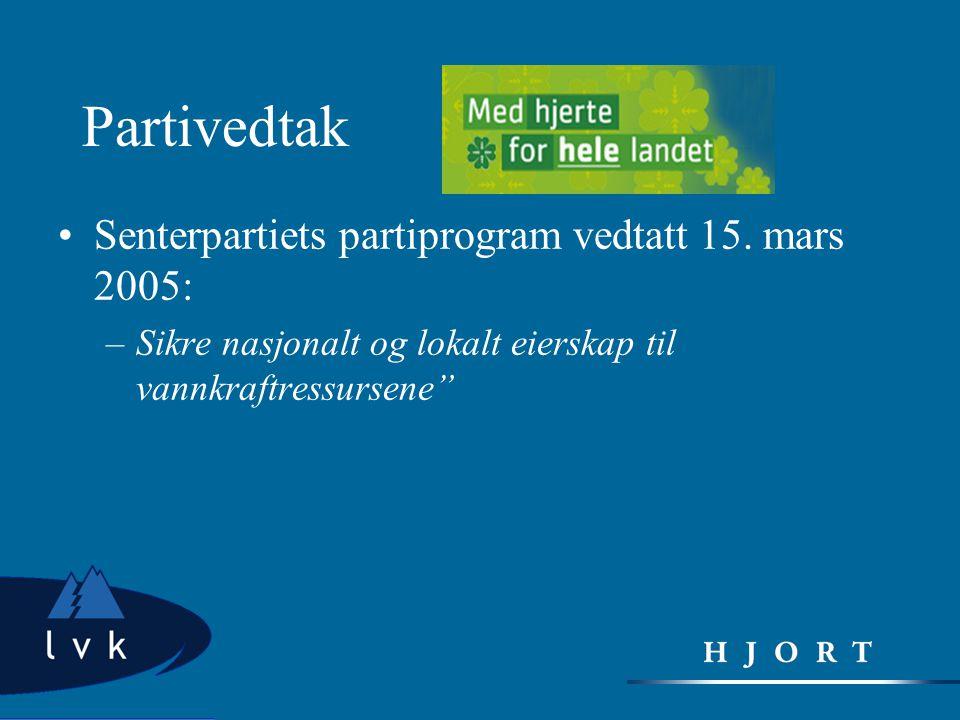 Partivedtak Senterpartiets partiprogram vedtatt 15. mars 2005:
