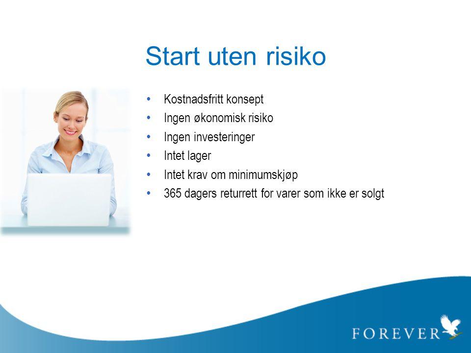 Start uten risiko Kostnadsfritt konsept Ingen økonomisk risiko