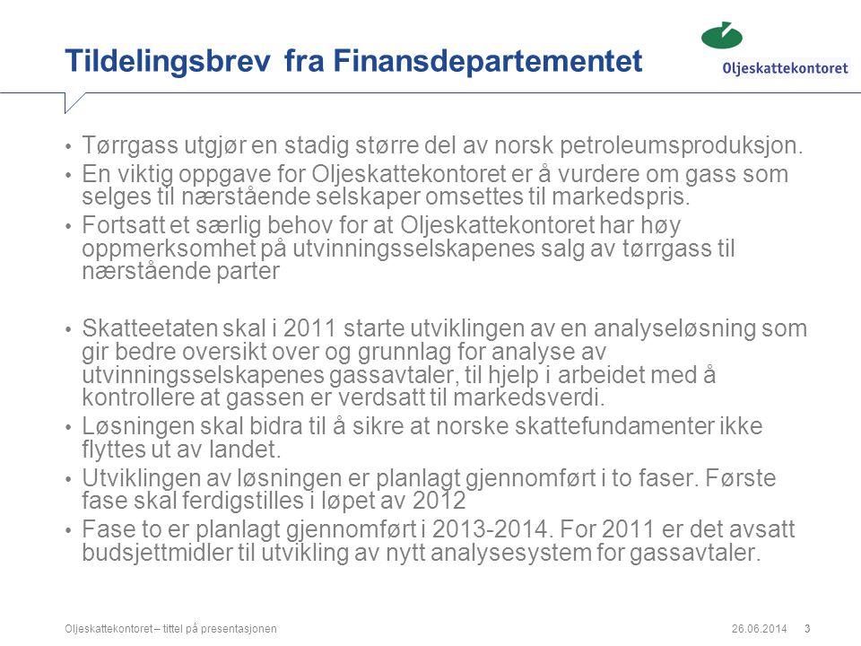 Tildelingsbrev fra Finansdepartementet