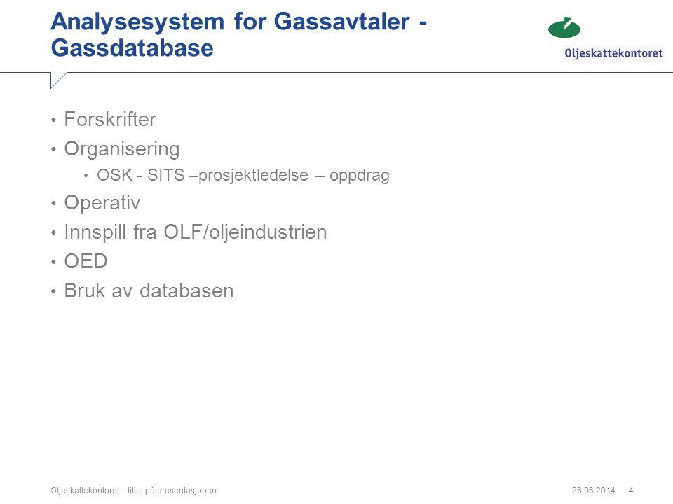 Analysesystem for Gassavtaler -Gassdatabase