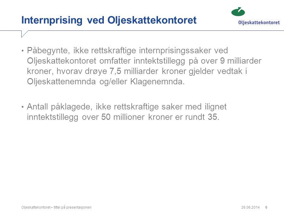 Internprising ved Oljeskattekontoret