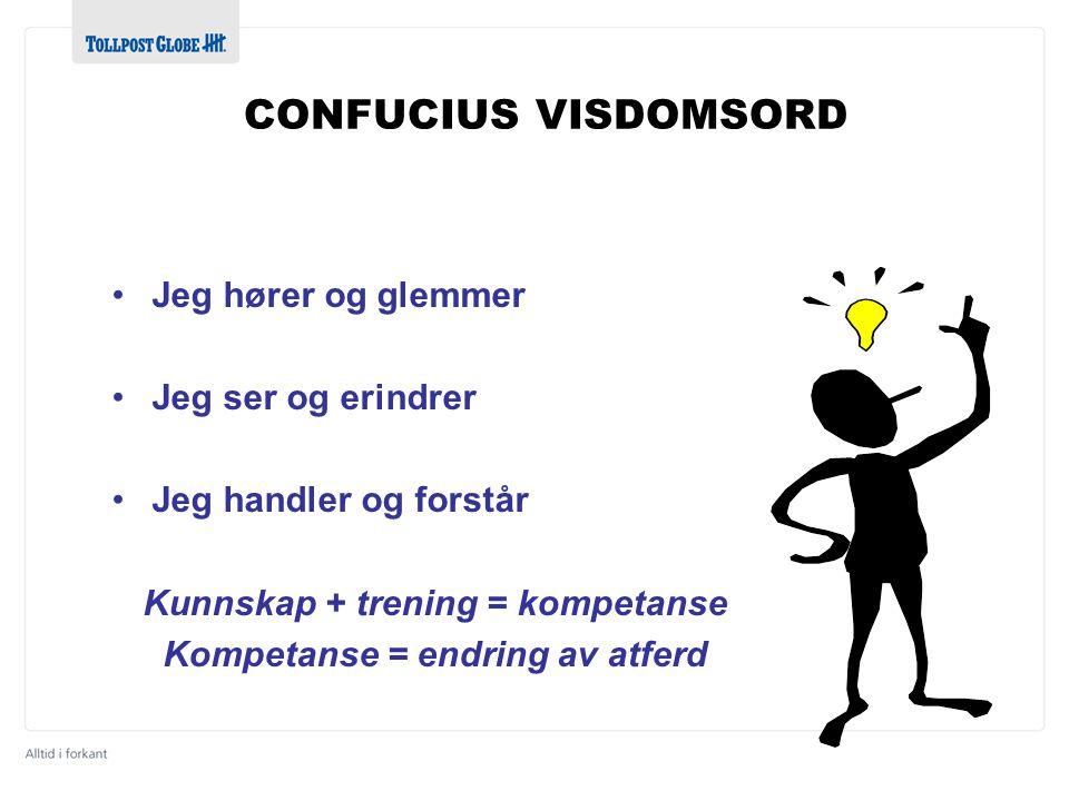 Kunnskap + trening = kompetanse Kompetanse = endring av atferd