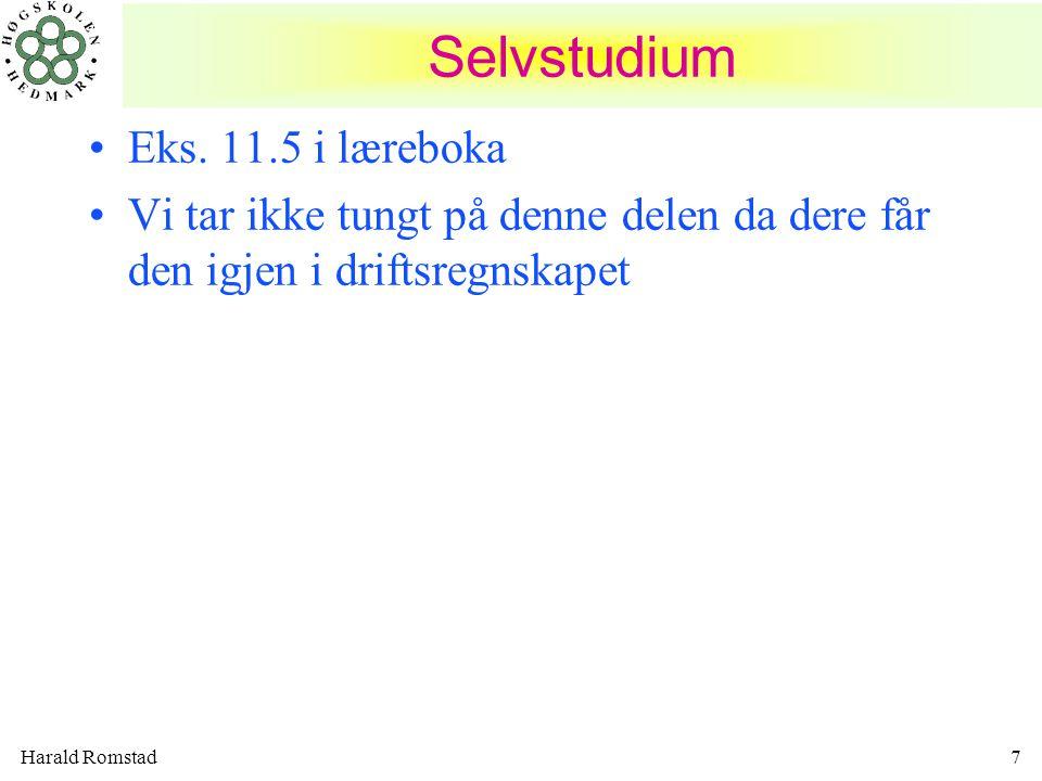 Selvstudium Eks. 11.5 i læreboka