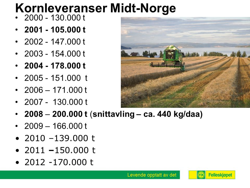 Kornleveranser Midt-Norge