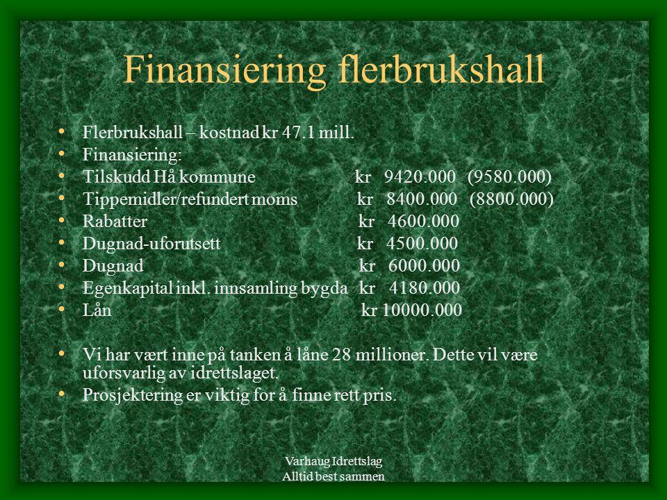Finansiering flerbrukshall