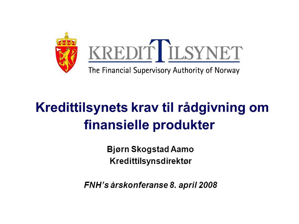 Kredittilsynets krav til rådgivning om finansielle produkter