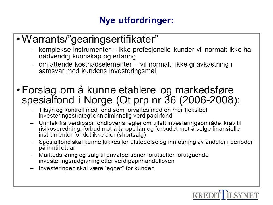 Warrants/ gearingsertifikater