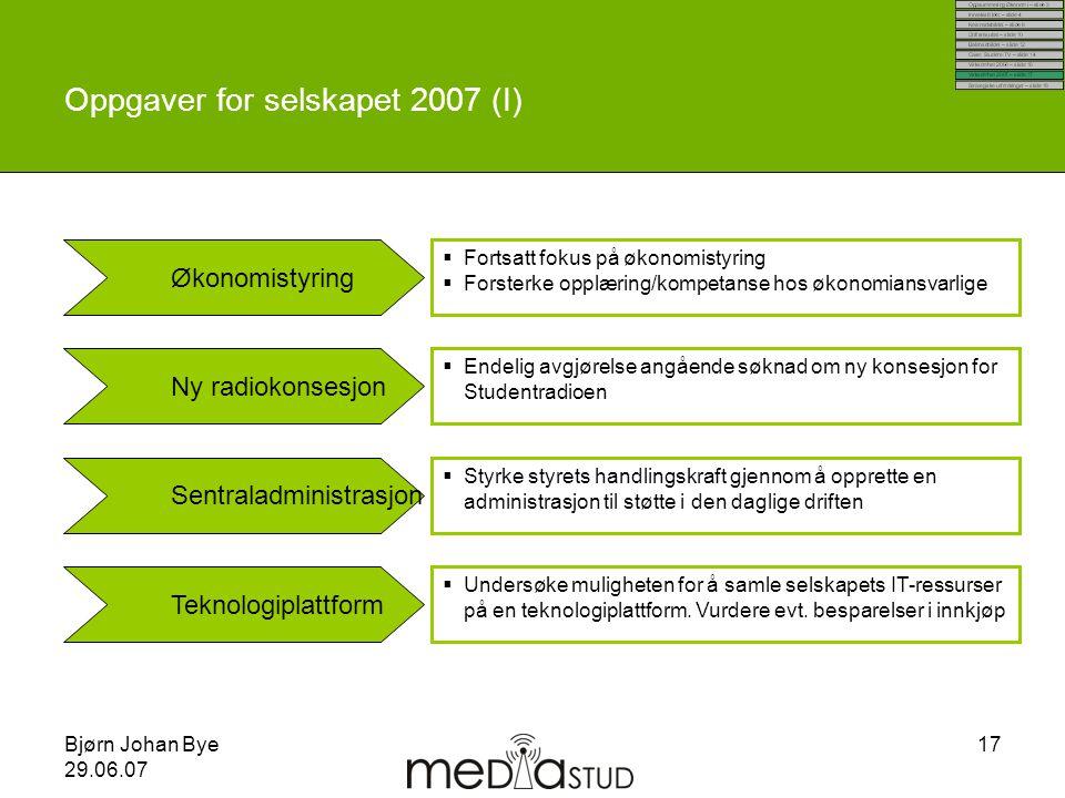 Oppgaver for selskapet 2007 (I)