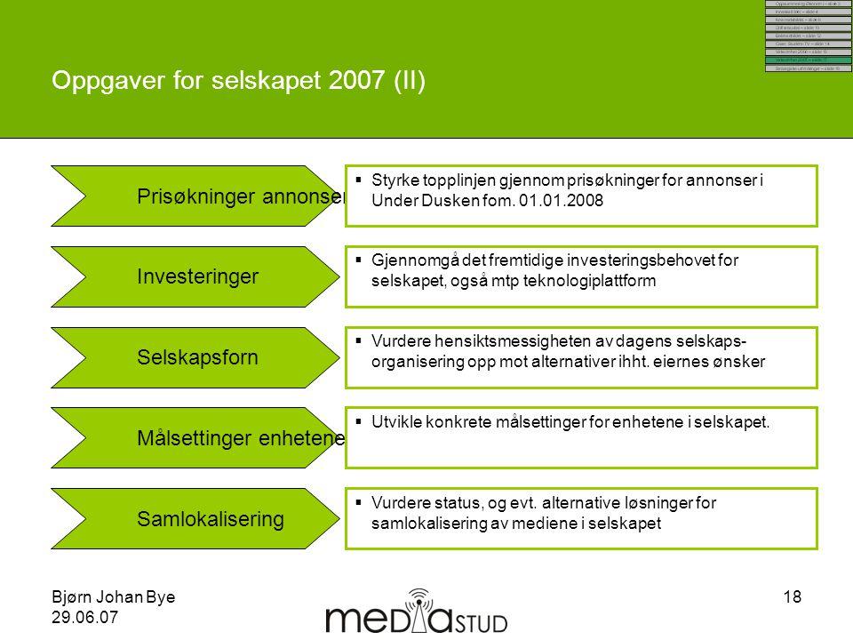 Oppgaver for selskapet 2007 (II)