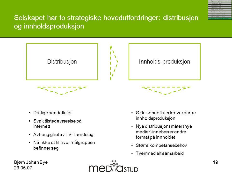Selskapet har to strategiske hovedutfordringer: distribusjon og innholdsproduksjon