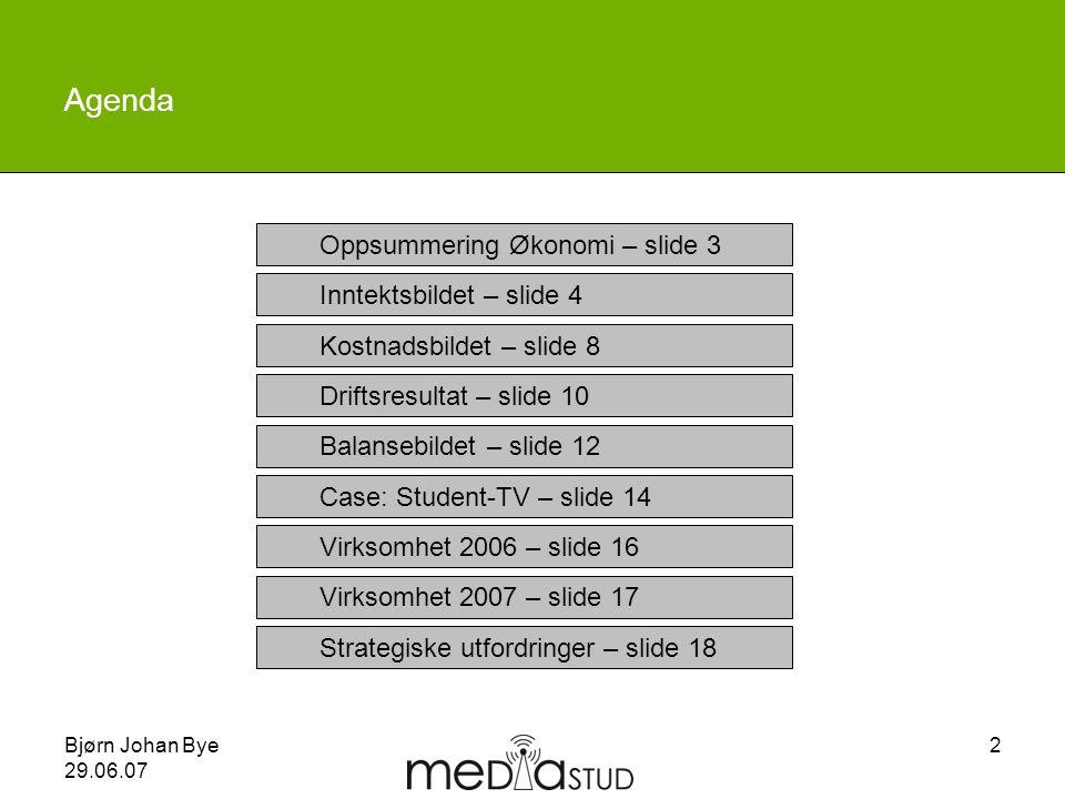 Agenda Oppsummering Økonomi – slide 3 Inntektsbildet – slide 4