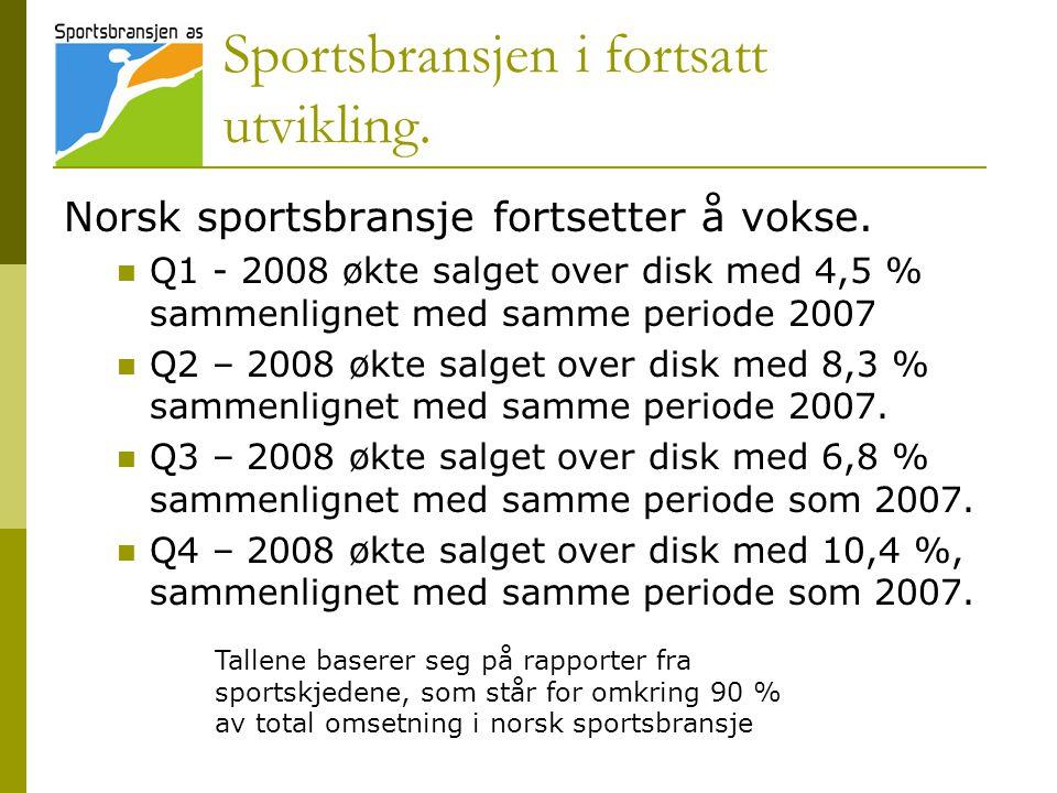Sportsbransjen i fortsatt utvikling.