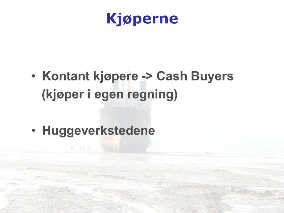 Kjøperne Kontant kjøpere -> Cash Buyers (kjøper i egen regning)