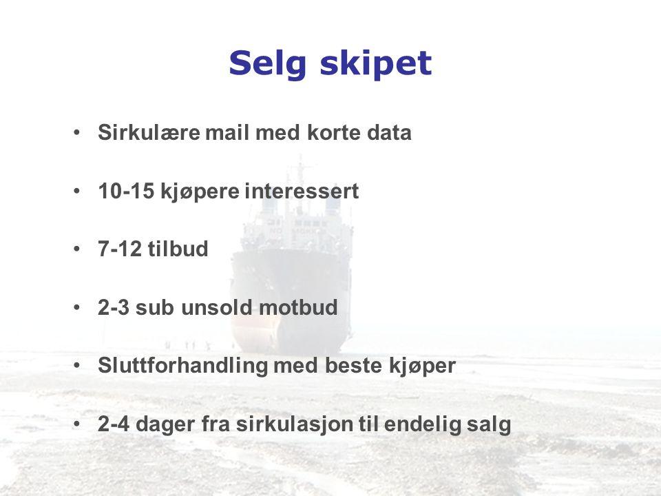 Selg skipet Sirkulære mail med korte data 10-15 kjøpere interessert