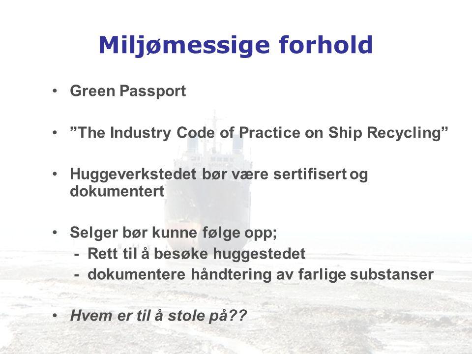 Miljømessige forhold Green Passport
