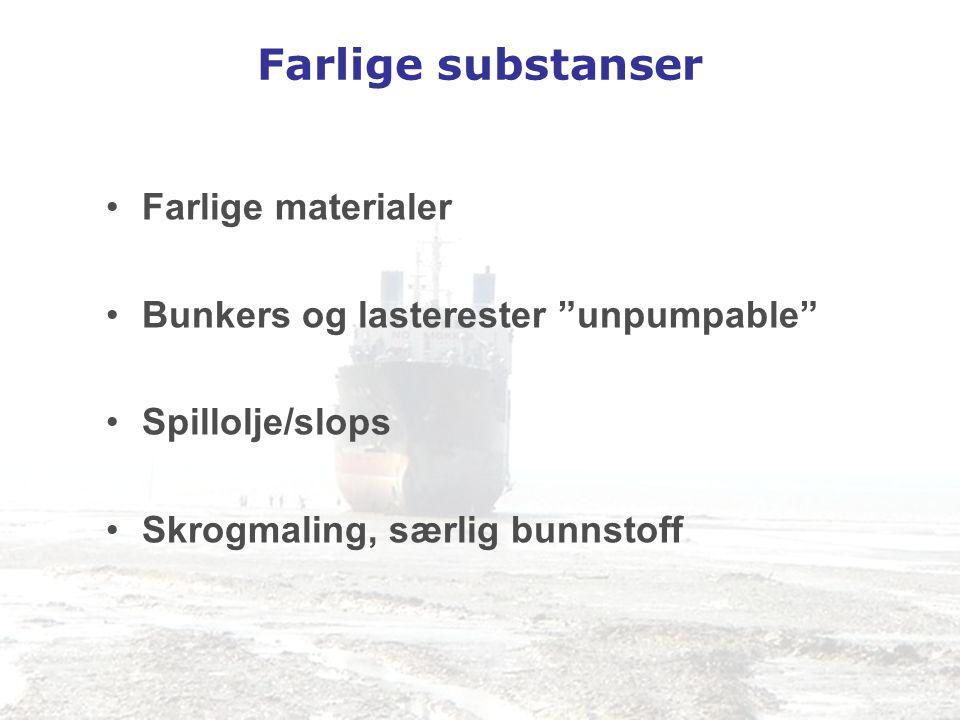 Farlige substanser Farlige materialer