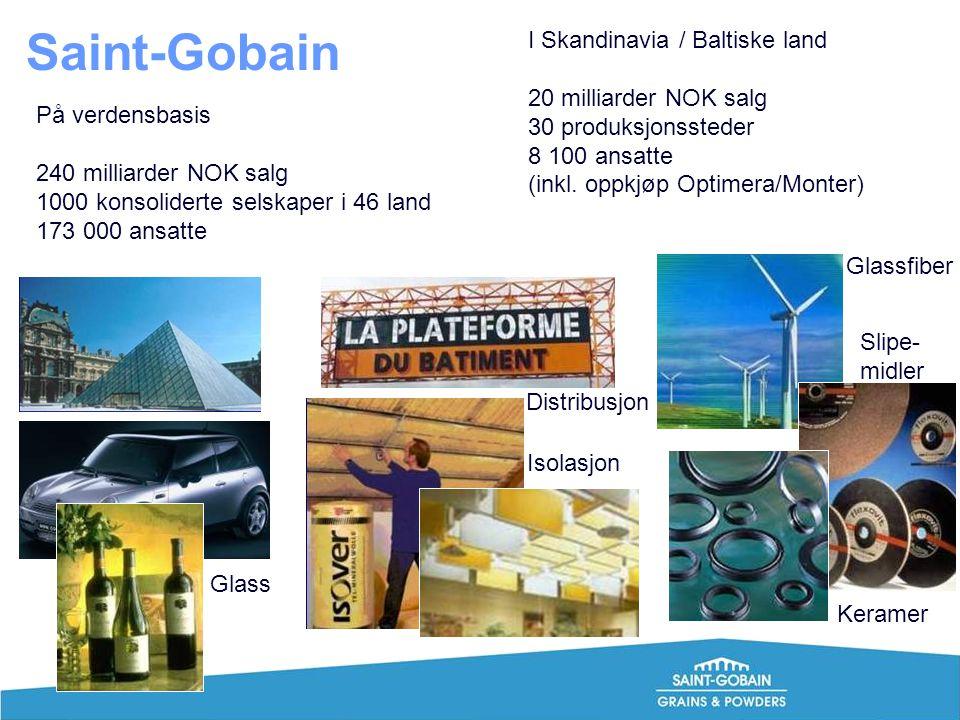 Saint-Gobain I Skandinavia / Baltiske land 20 milliarder NOK salg