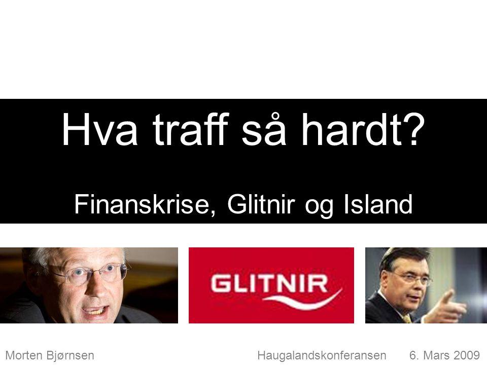 Finanskrise, Glitnir og Island