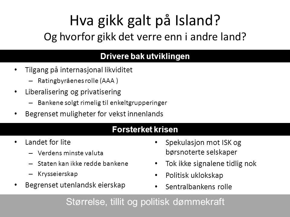 Hva gikk galt på Island Og hvorfor gikk det verre enn i andre land