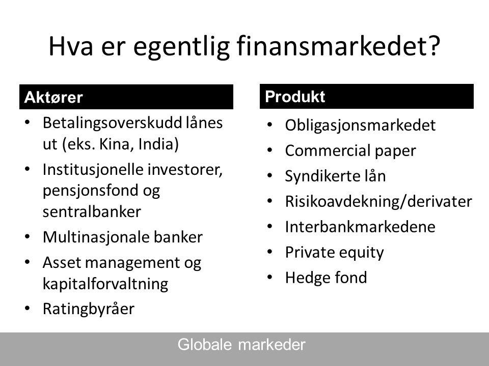 Hva er egentlig finansmarkedet
