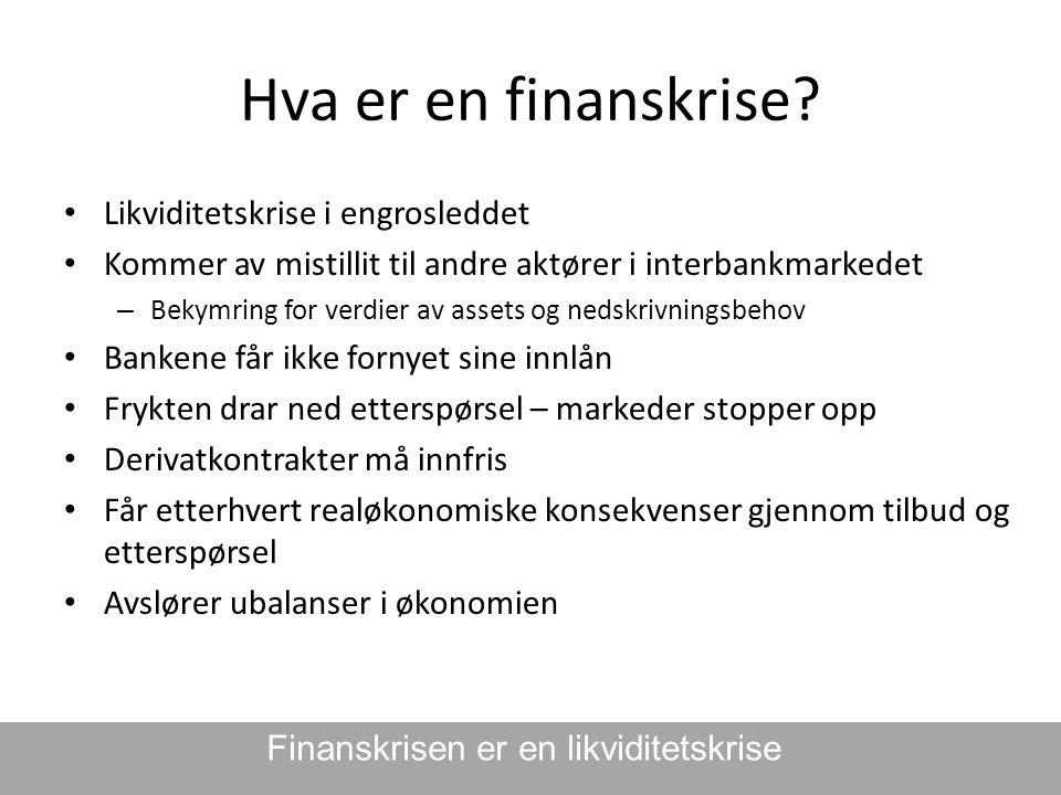 Finanskrisen er en likviditetskrise