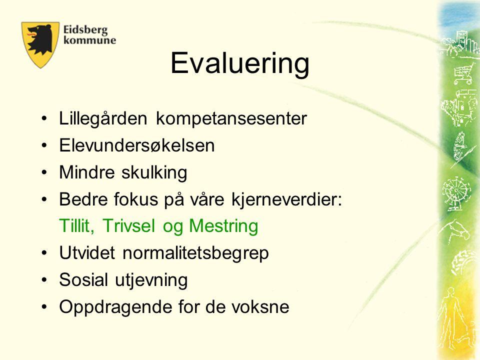 Evaluering Lillegården kompetansesenter Elevundersøkelsen