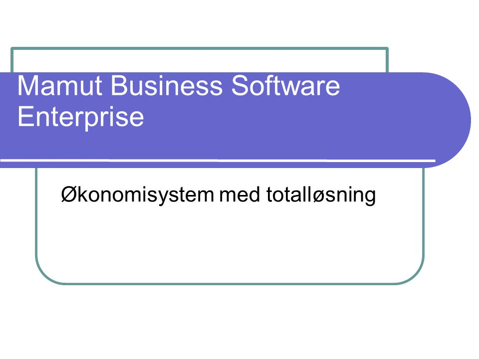 Mamut Business Software Enterprise