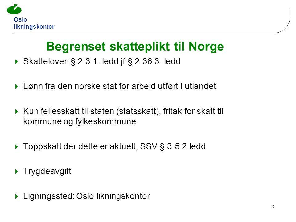 Begrenset skatteplikt til Norge