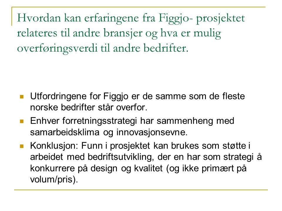 Hvordan kan erfaringene fra Figgjo- prosjektet relateres til andre bransjer og hva er mulig overføringsverdi til andre bedrifter.