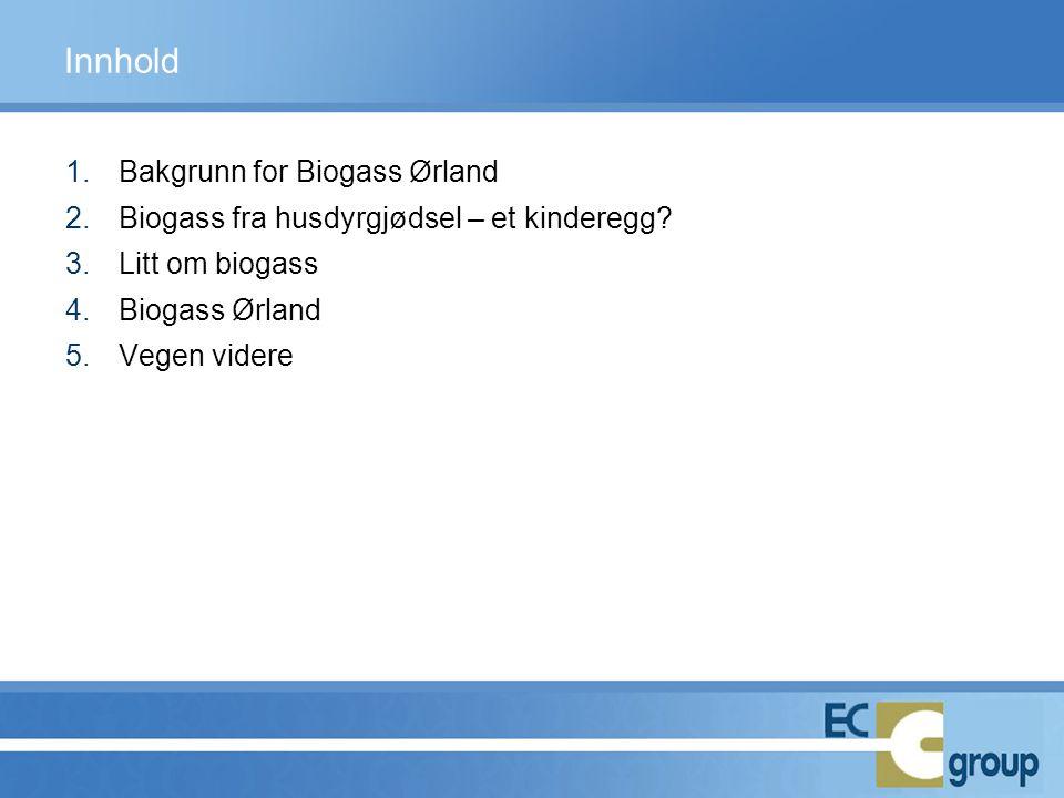 Innhold Bakgrunn for Biogass Ørland