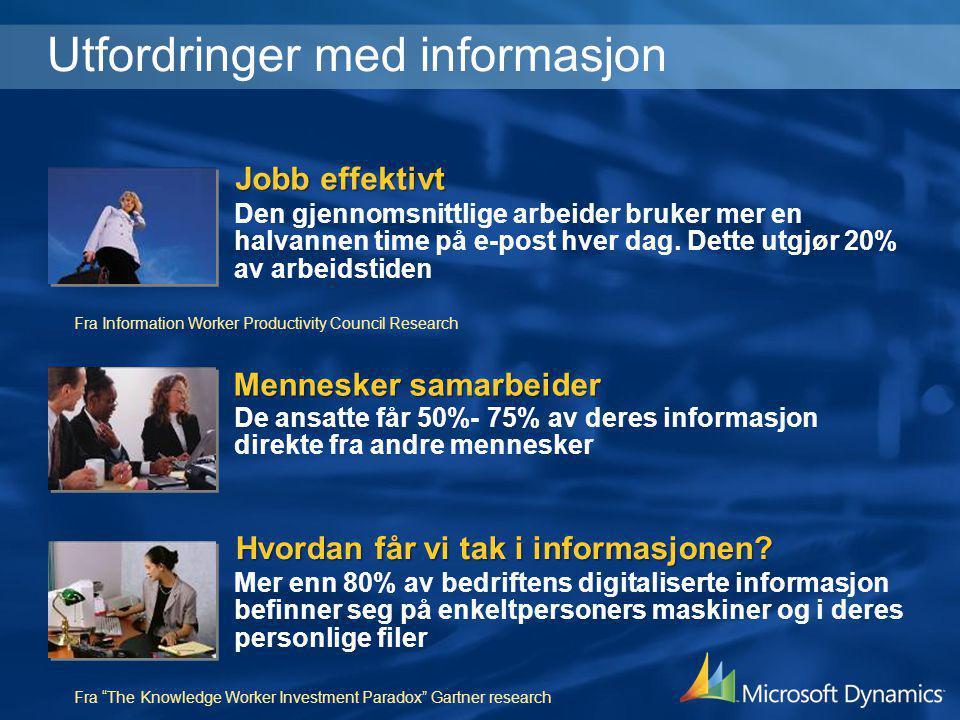 Utfordringer med informasjon