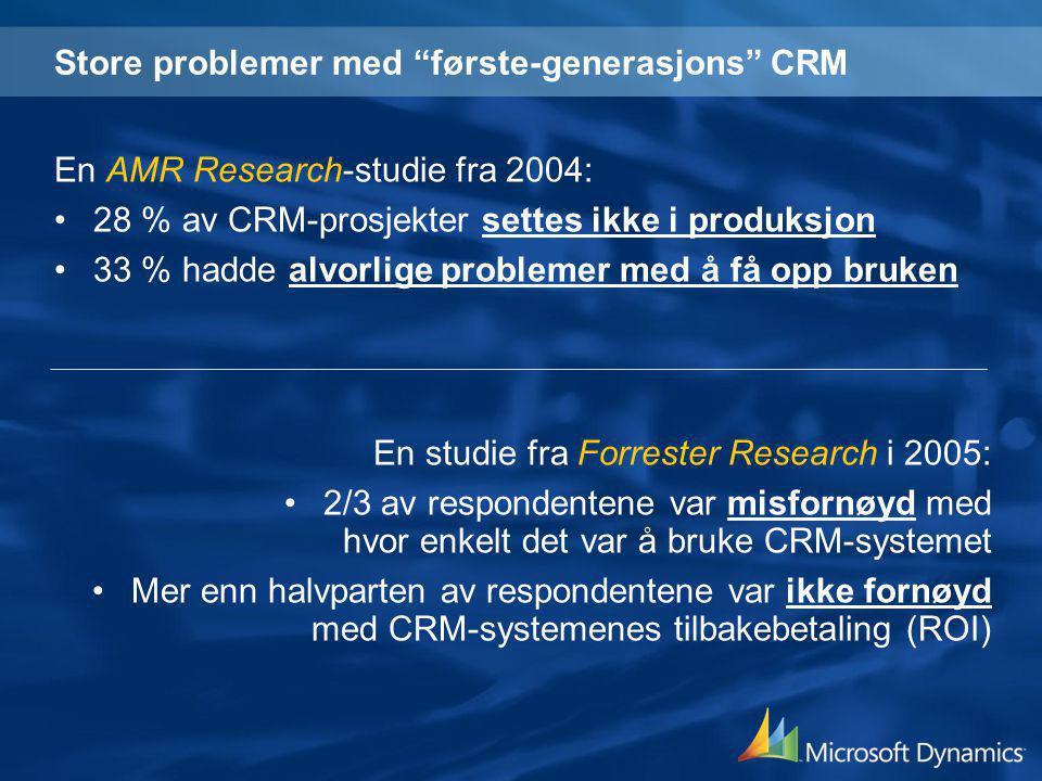 Store problemer med første-generasjons CRM