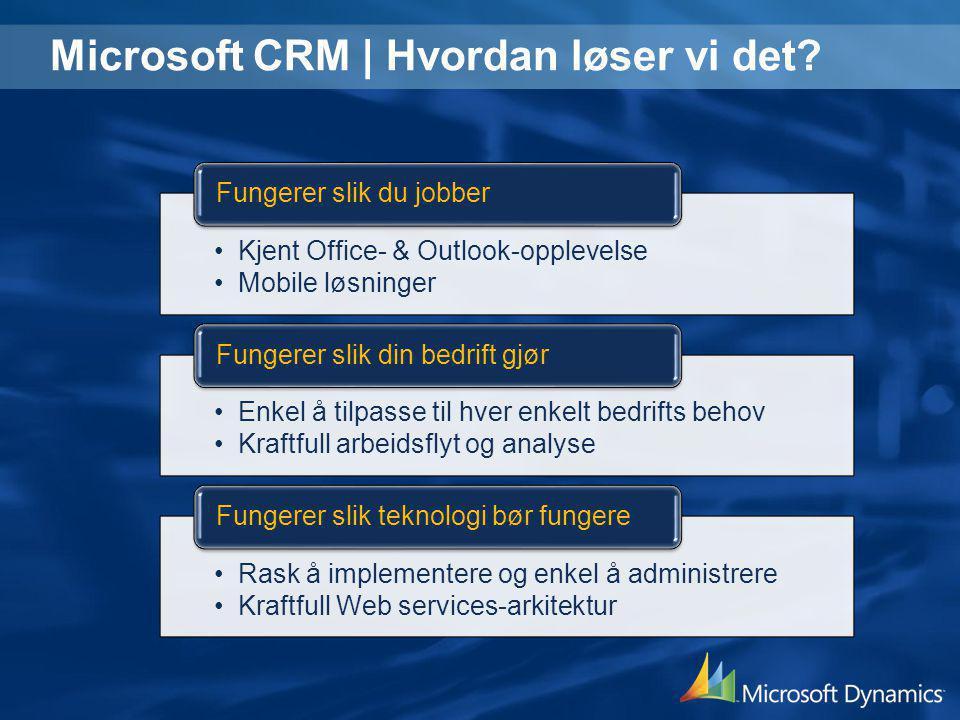 Microsoft CRM   Hvordan løser vi det