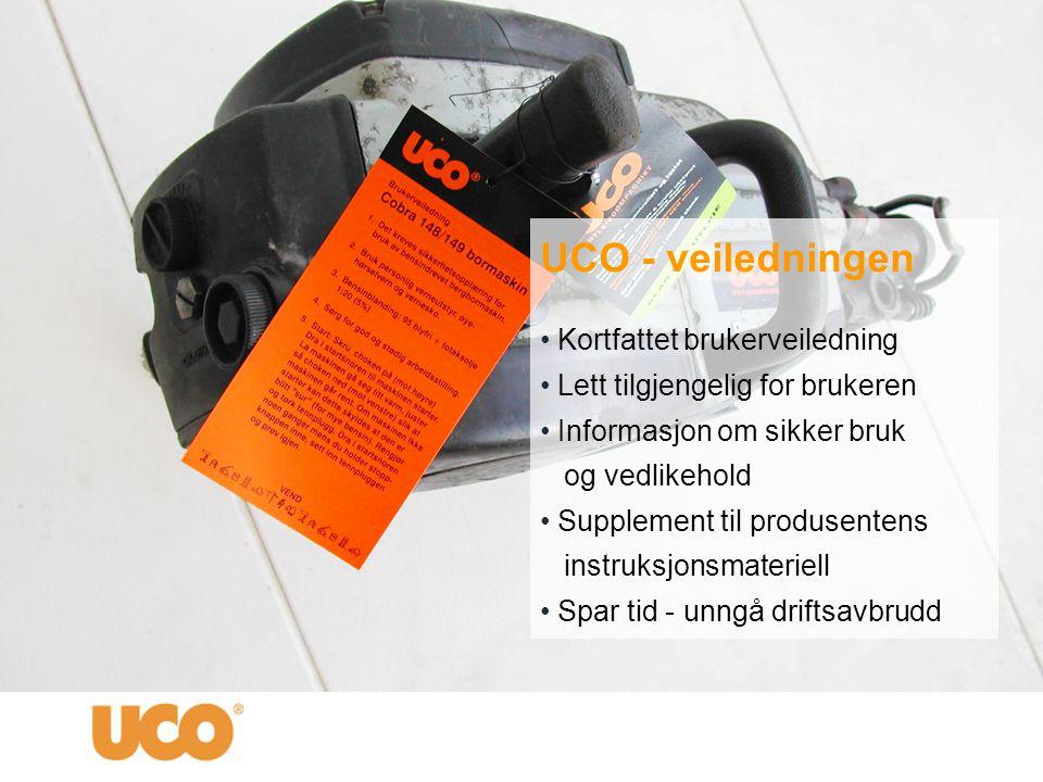 UCO - veiledningen Kortfattet brukerveiledning